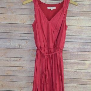 Ann Taylor Loft Wrap Front Maxi Dress